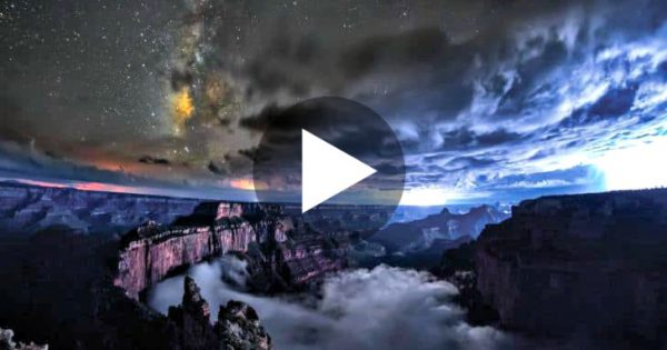 Photographer Captures Rare Phenomenon At The Grand Canyon.. I've Never Seen Like This Before.. WOW!