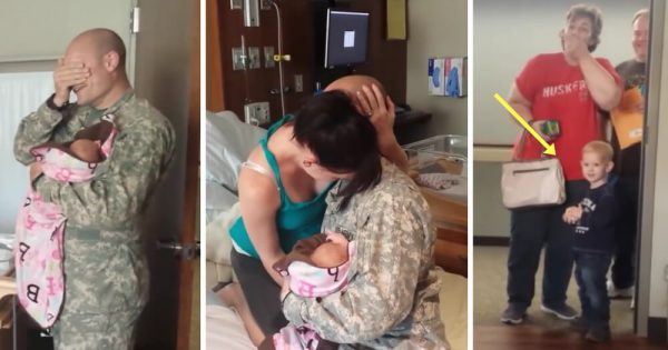 Soldier Is Allowed To Fly and Meet His Newborn Baby, Now Watch When His 2-Year-Old Son Sees Him..
