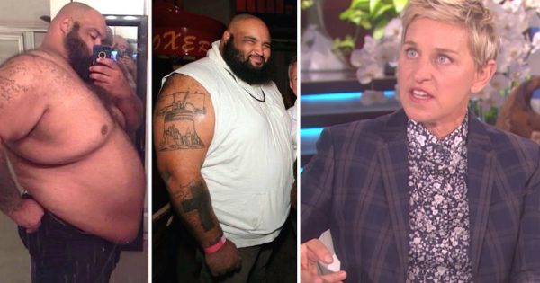 Obese dad vows to lose weight. but when he walks on stage, Ellen is dumbfounded by his extreme new look