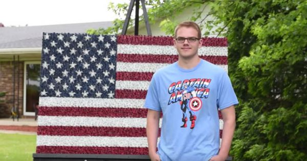 You Must Zoom This To Truly Understand The Viral Message This Teen's Flag Carries… Unbelievable!
