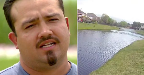 "He feels something brush against him in water, sees tiny foot float to surface. Now he's being called a ""Hero"""