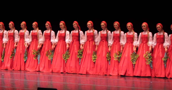 16 Girls In Russians Gowns Take The Stage, But No One Could Believe It When They Start To Float. I'm Speechless!