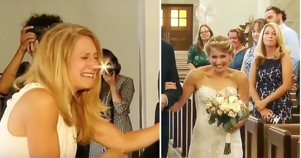 Bride Lost Dad Before Her Wedding Day. You Won't Believe Who Walks Her Down The Aisle. Tear-Jerking!