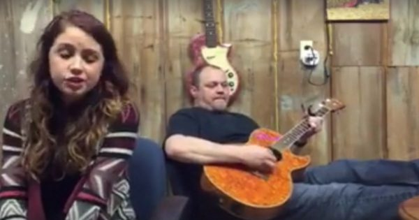 He starts playing a song from 1973, But when his daughter joins in.. It's nothing like you've heard before