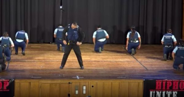 9 cops walk onstage, surprise audience with their outstanding hip-hop dance moves