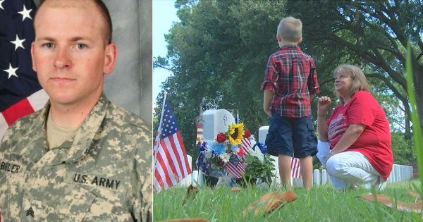 Mom Visits the Grave of her Fallen Soldier Son, Spots Mysterious Boy Leaving Note on Son's Tombstone