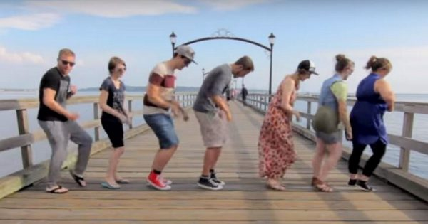 Man travels 10,000 miles across U.S, dances with 100 complete strangers for epic music video