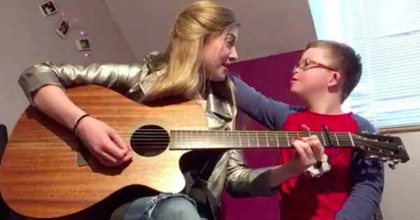 Sister Sings Heartwarming Song She Wrote For Brother with Down Syndrome in Viral Video