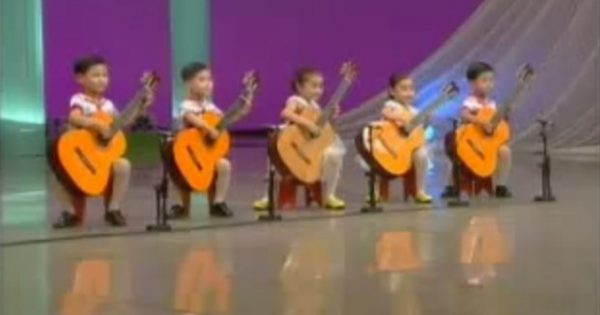 It Seems Like These 5 Kids Can Barely Hold The Guitars. Seconds Later, The Whole Audience Is in Disbelief
