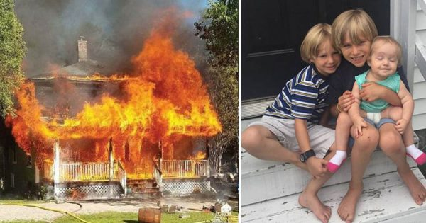8-Yr-Old Boy's House Caught In Fire, Remembers Emergency Plan and Rescues Baby Sister