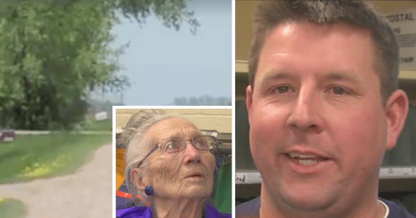 Mailman is About to Drop Mail Off for 94-Yr-Old Woman, Hears Crying inside and Breaks In