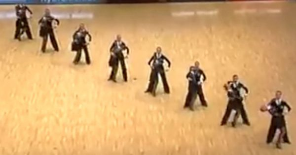 8 Couples Go For a Diagonal Formation While On Stage. The Crowd Went Wild With Their Next Move