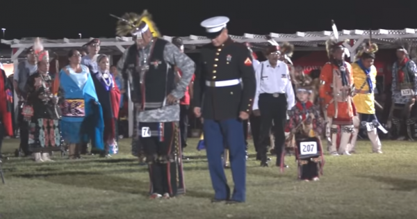 Native American Tribe Challenges U.S Marine to Dance, Surprises Them with Move No One Saw Coming