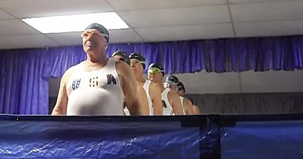 6 Senior Men Line up, Put On Hilarious Synchronized Swimming Routine That Has The Internet In Stitches