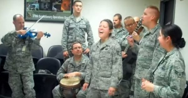 Deployed Airmen Gather To Sing One of Adele's Top Hits – At :26, Everyone Was Left in Total Shock
