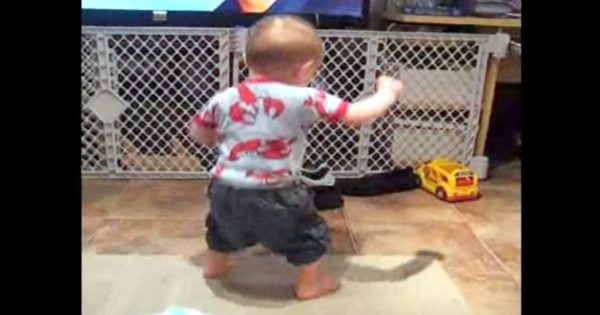 Baby Comes Running When His Favorite Song Plays On. His Dance Moves Will Make You Burst out Laughing
