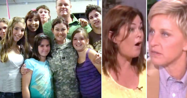 "Soldier Mom Had To Leave Her 7 Kids, Then Ellen Reveals Husband's ""Secret Identity"" While She's Deployed"