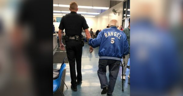 Cop Shows Up When 92-Yr-Old Man Causes Uproar at Bank , Then He Realizes What's Really Going On