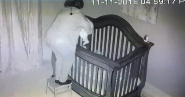 Grandma Tries to Put Baby into Crib. Security Camera Footage Has Millions Rolling with Laughter