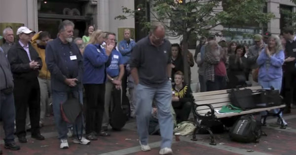 Man Nervously Walks to The Center of Crowd and Starts Singing. Now Watch When Others Join