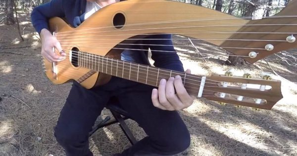 Man Plays Famous Song on 18-String Guitar. His Rendition is Taking Everyone's Breath Away