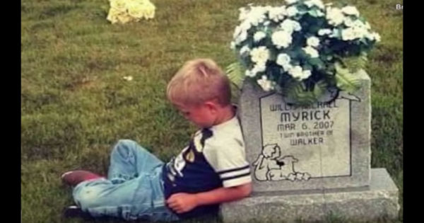 9-Yr-Old Boy Visits Twin's Grave, But Mom Loses It The Moment She Hears What He Shares