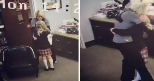 11-Yr-Old Finally Gets Long-Awaited News about Her Parents. Emotional Moment Caught on School's Camera