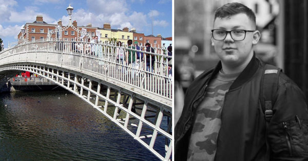 Thousands Pass By Crying Man On Bridge — Teen Stops Short and Asks A Question No One Else Would