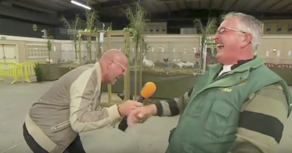 Reporter Interviews Farmer, Loses it When He Hears Him Laugh Exactly Like a Chicken