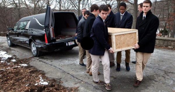 6 Boys Are Pallbearers For Lonely Man – Then One of Them Says 5 Words That Send Chills Down Everyone's Spine