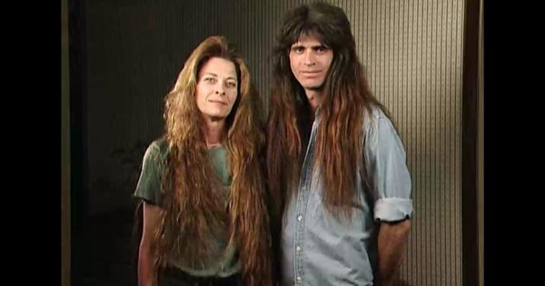 Rock N Roll Couple Haven't Cut Their Hair For 30 Years – No One Could Recognize Them After The Makeover