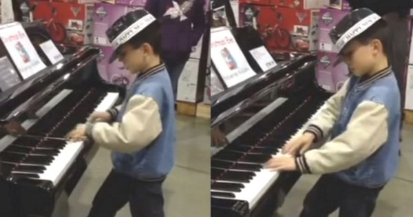 9-Yr-Old Boy Walks into Local Costco, Leaves Shoppers in Awe With Stunning Piano Performance