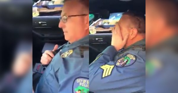 Retiring cop makes final sign-off call – breaks down in tears hearing a familiar voice on the radio