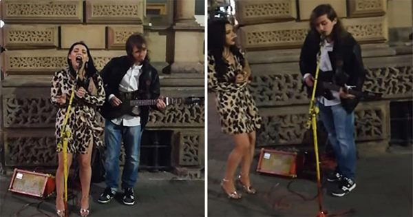 Woman Walks Up to Street Musician and Asks to Join in – Their Rendition of Hallelujah Leaves Everyone In Chills