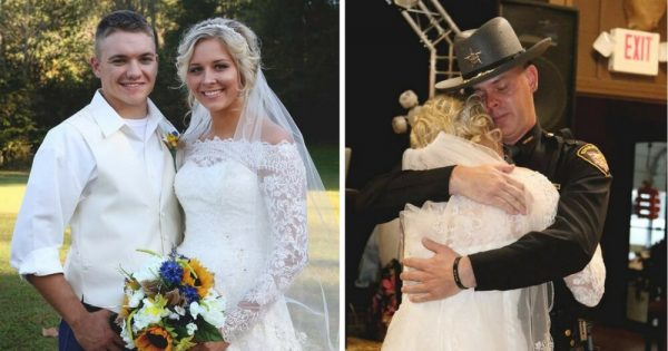 Bride's Father Was Killed in The Line of Duty – Loses it When a Stream of Officers Walk Through The Door