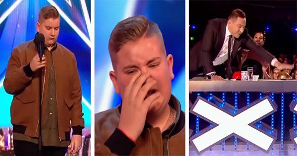 """Nervous Teen Breaks Down in Tears after Singing """"Hallelujah"""", Has No Idea Judge is About to Hit Golden Buzzer"""