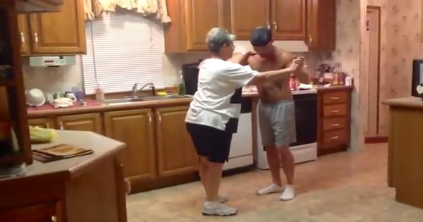 Son Grabs Mom's Hand When Favorite Song Plays On, Their Kitchen Dance Routine Is Driving The Internet Wild