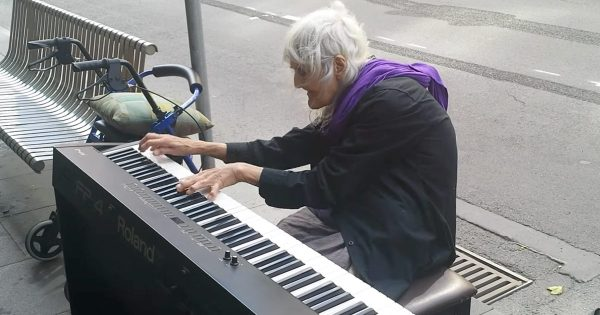 80-Yr-Old Woman Sits Down To Play Street Piano, Moves Public to Tears With Stunningly Beautiful Masterpiece