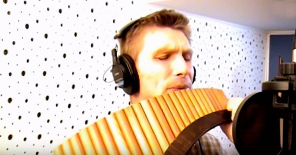 """He Steps Up to The Mic With a Pan Flute. His Special Rendition of """"You Raise Me Up"""" Leaves Everyone Breathless"""