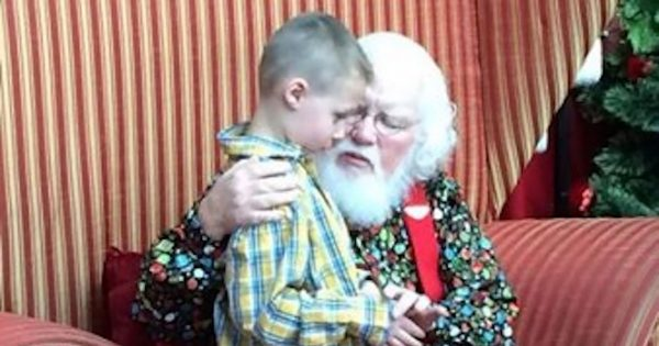 Autistic Boy Shares His Life's Darkest Secret, Santa Grabs Him and Speaks 5 Words That Change Everything