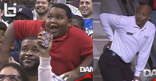Dance Cam Covers Little Kid's Hilarious Dance off With Security – The Whole Crowd Goes Wild With Laughter