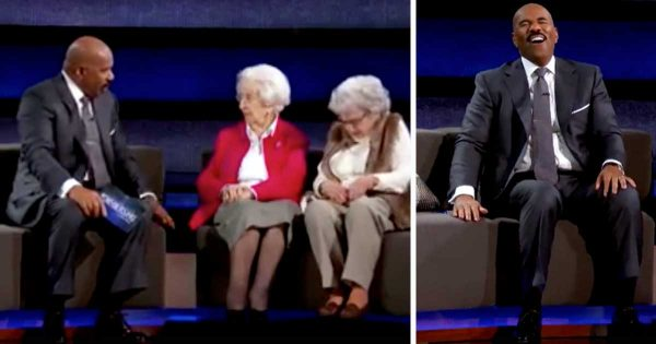Steve Asks 100-Yr-Old Woman If She Likes Talking To Her Sister. Her Response Have Millions In Fits Of Laughter