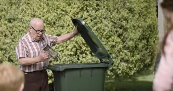 Grumpy Old Man Keeps Tossing Away Brand New Items – Then Little Neighbor Realizes What He's Been Really Doing