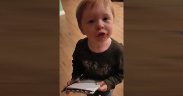 Cute Southern Boy Helps Mom Make Grocery List – Captured Footage is Brightening Everyone's Day