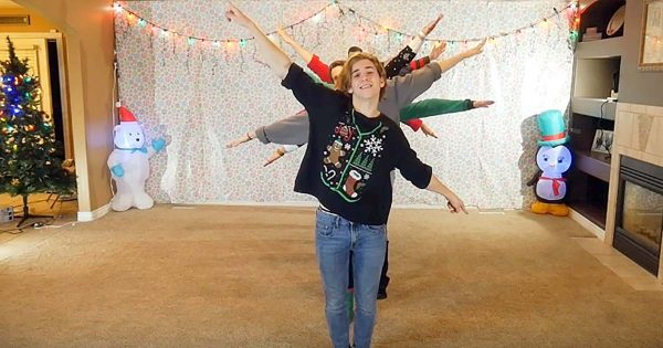 8 Siblings in Ugly Sweaters Stand in Line – Their Heartwarming Christmas Dance is Bringing Joy to The Internet