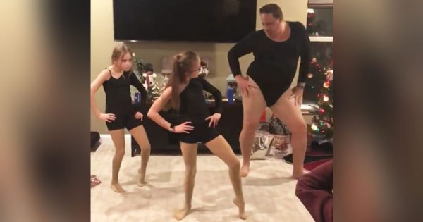 """Dad dons skin-tight leotard, performs epic dance of Beyoncé's """"Single Ladies"""" that's driving the internet crazy"""