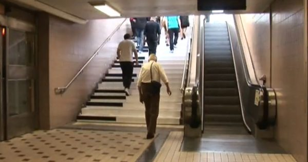 People Notice Weird Looking Stairs. Now Watch The Amazing Thing That Happens When They Walk On Them