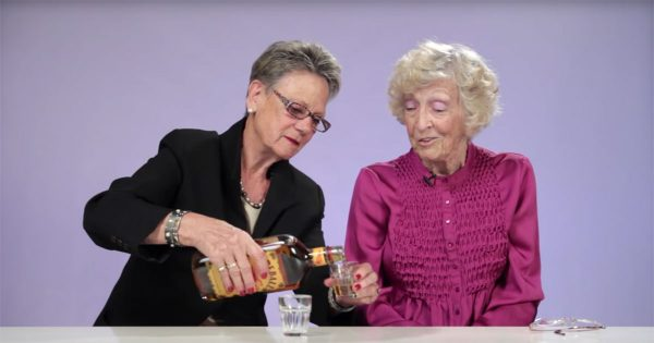 Two grannies throw back shots of Fireball Whisky for the first time – Reaction has internet dying of laughter