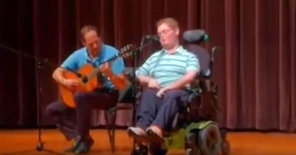 Teen Is Joined By Dad For Talent Show. Moments Later, He Belts Out Country Hit That Leaves Everyone In Awe