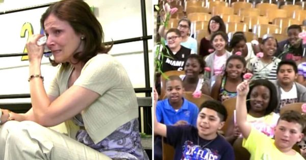 Beloved Teacher Is Battling Cancer. Students Surprise Her With Emotional Tribute That Brings Her To Tears